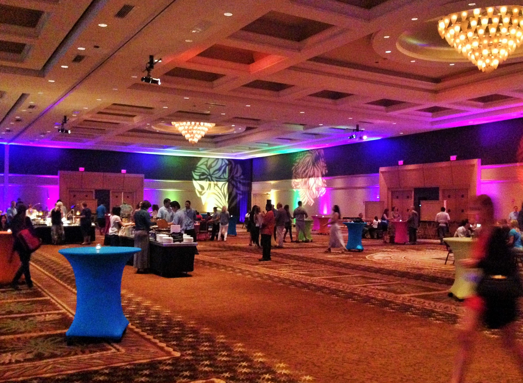 Things started settling in at this beautiful banquet. Welcome to TBEX party Westin Diplomat Resort and Spa