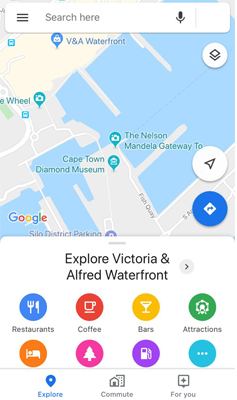 Google maps mobile view