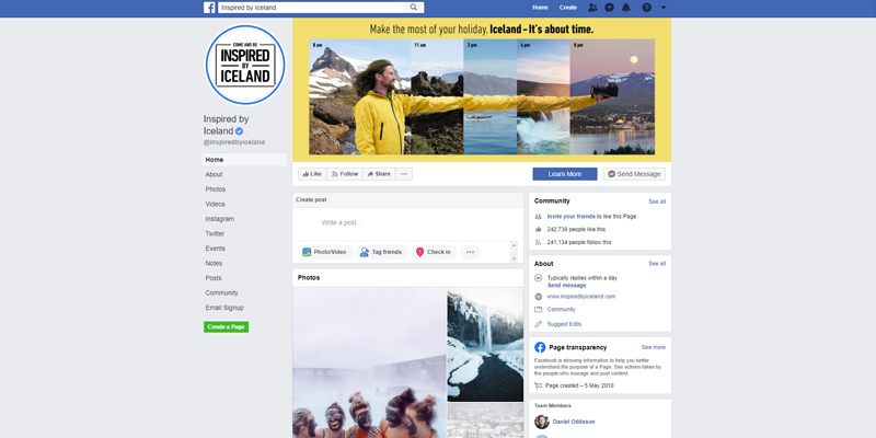 Inspired By Iceland FB messenger Learn More CTA