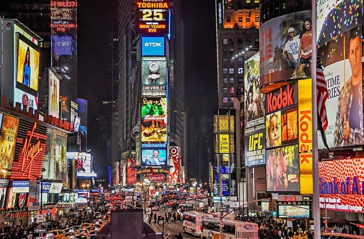New York Times Square overcrowding