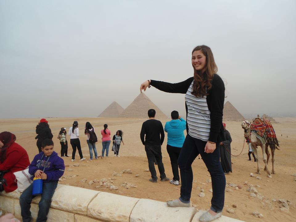 Shannon knows the ins and outs of getting out there. (Cairo, Egypt)