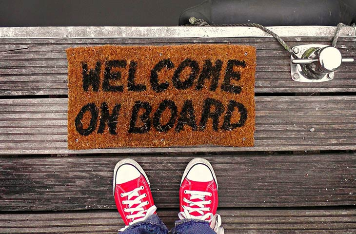 Welcome on board email